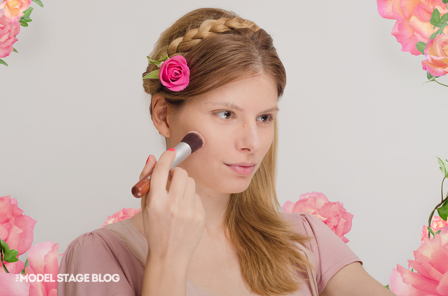 A rose inspired Valentine's Day pink makeup tutorial 1