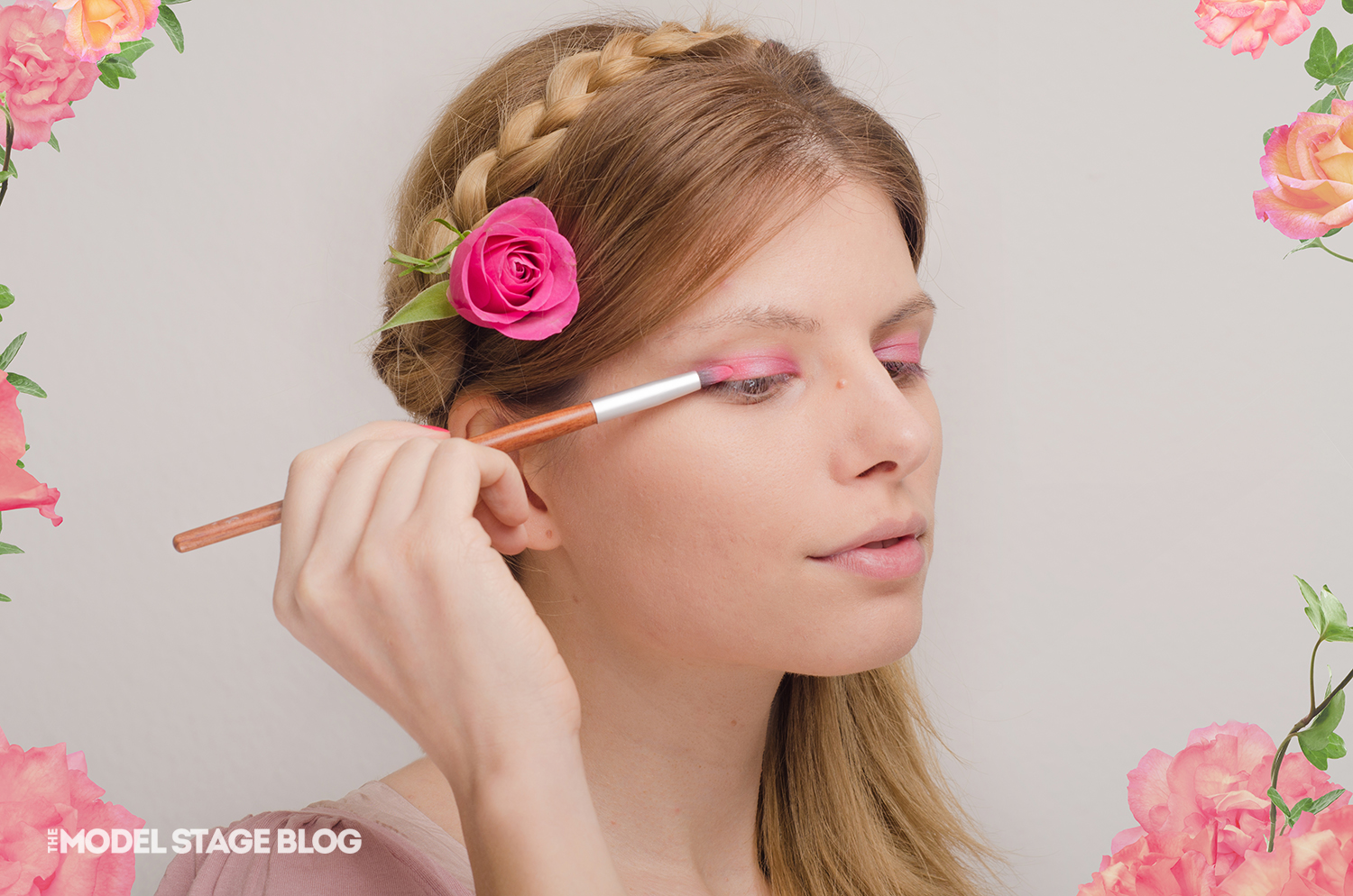 A rose inspired Valentine's Day pink makeup tutorial 2