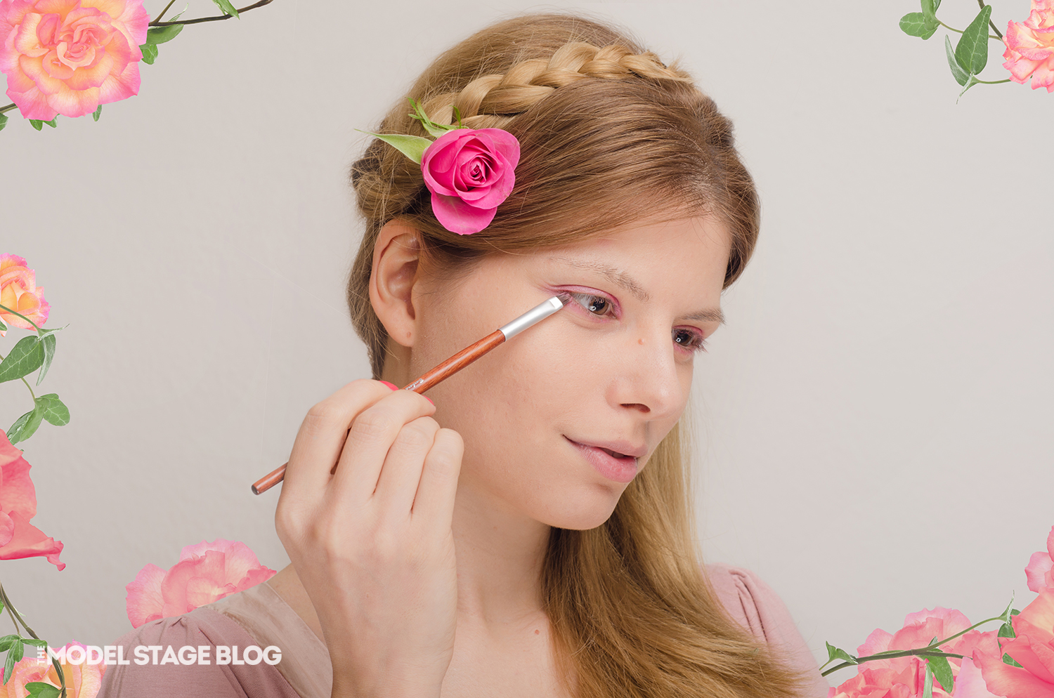 A rose inspired Valentine's Day pink makeup tutorial 3