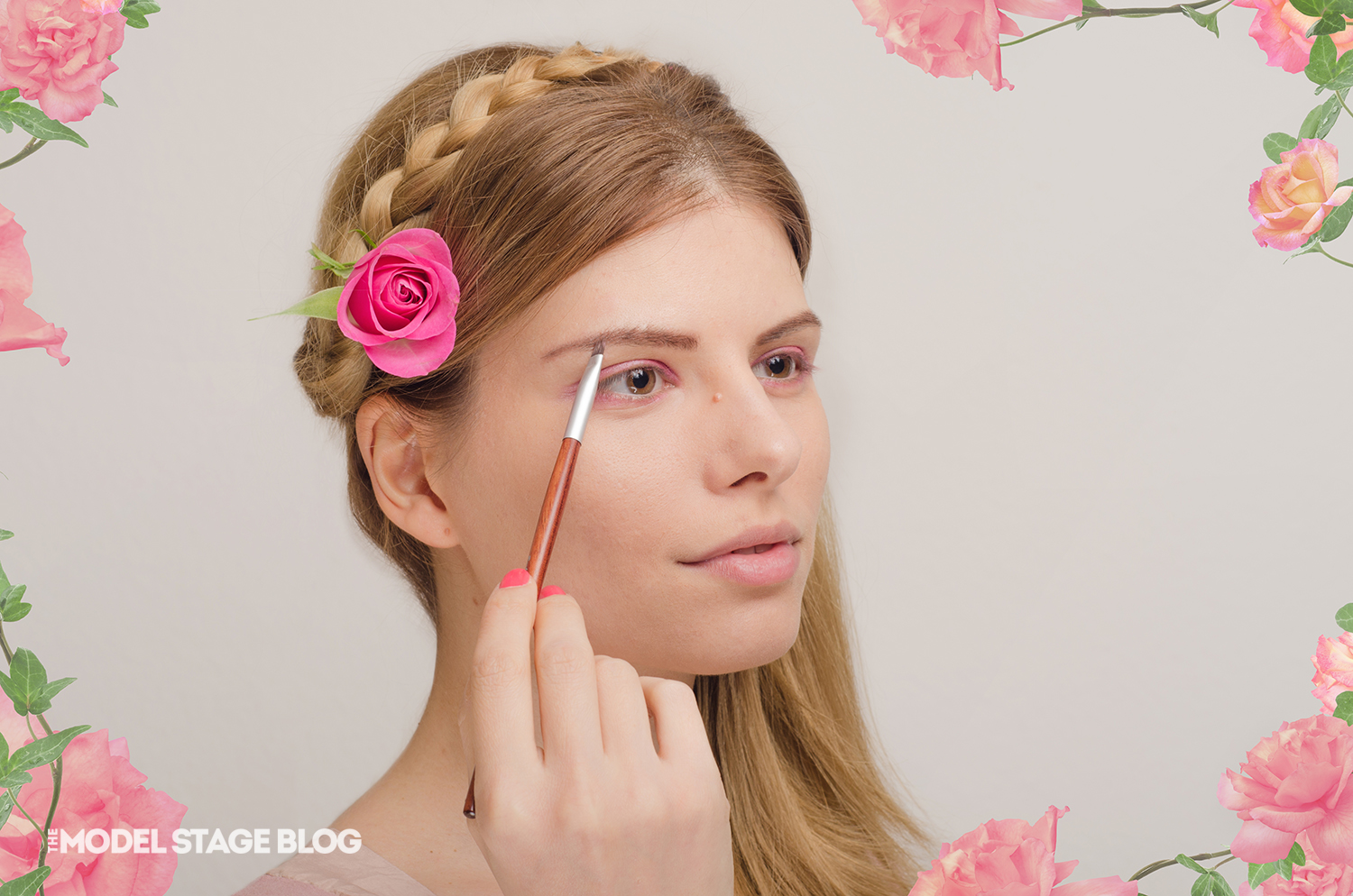 A rose inspired Valentine's Day pink makeup tutorial 4