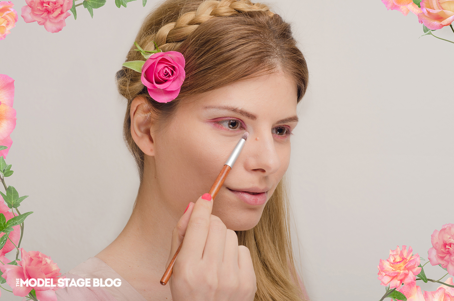 A rose inspired Valentine's Day pink makeup tutorial 5