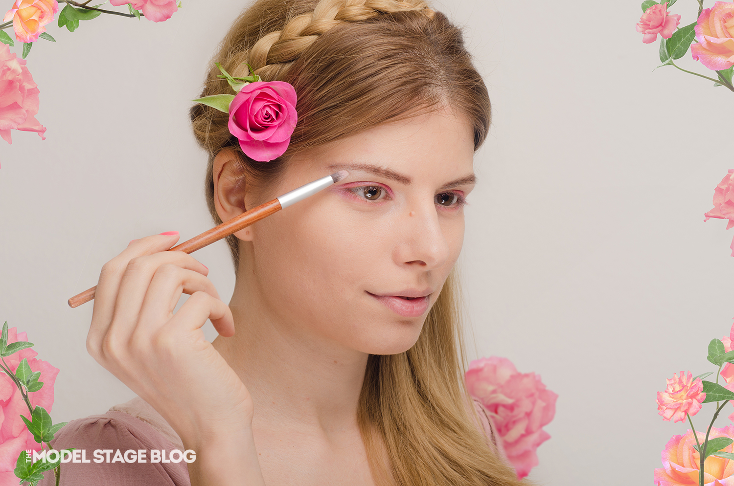 A rose inspired Valentine's Day pink makeup tutorial 6