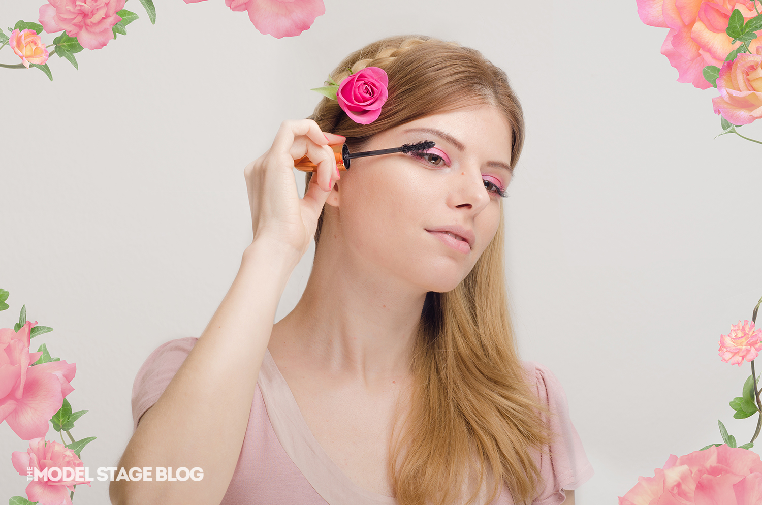 A rose inspired Valentine's Day pink makeup tutorial 7
