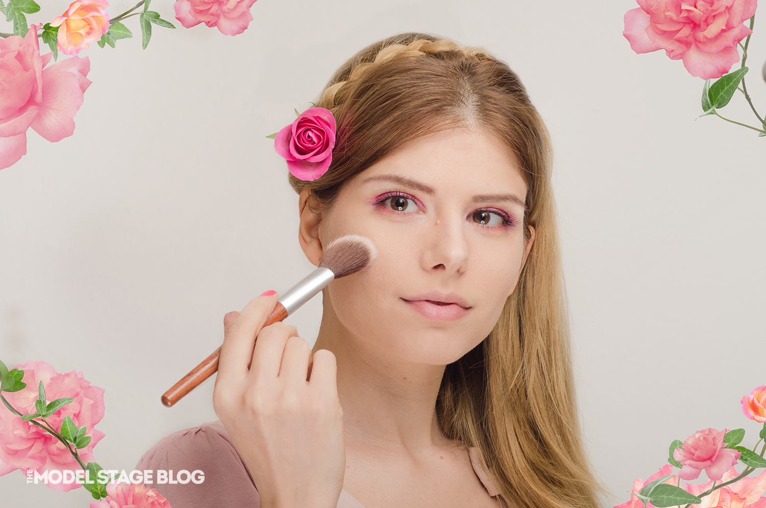A rose inspired Valentine's Day pink makeup tutorial 8