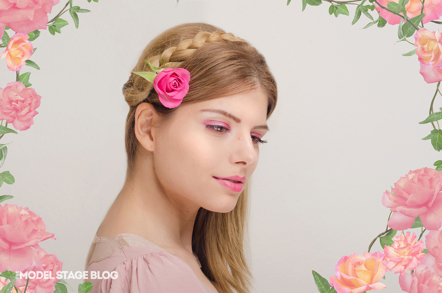 A rose inspired Valentine's Day pink makeup tutorial 9