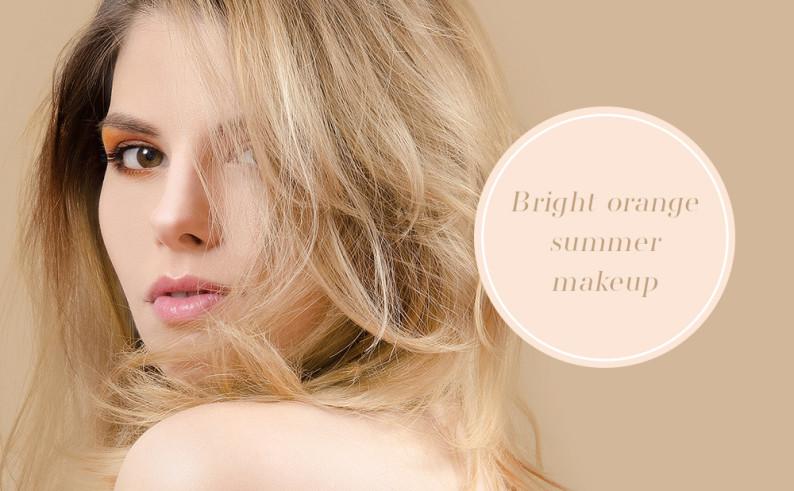 bright_orange_summer_makeup