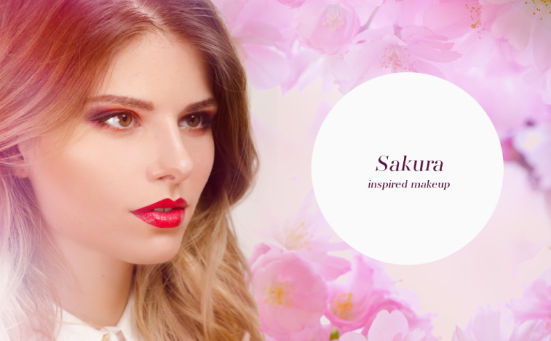 sakura inspired makeup